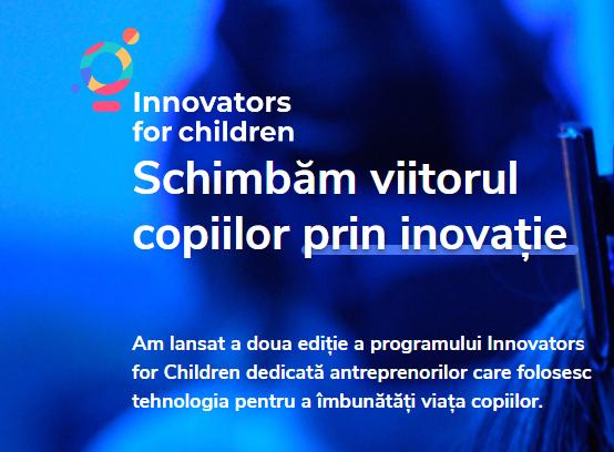 Aplică în programul Innovators for Children 2020!