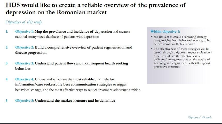 Studiu de evaluare a prevalentei depresiei in Romania.